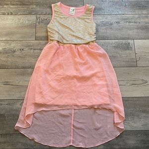 Lily Bleu sleeveless high low dress